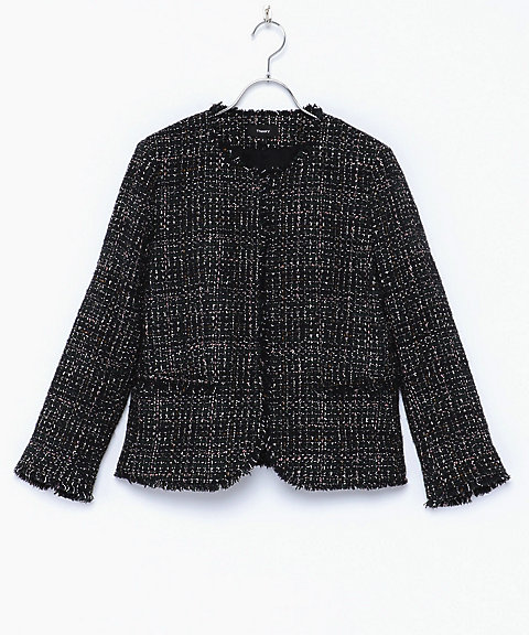 <Theory>SPARKLE TWEED/FEMININE SLIM JKT(クローバー)
