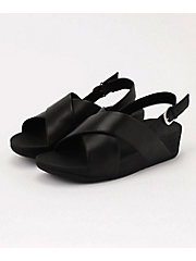 <フィットフロップ> LULU CROSS BACK-STRAP SANDALS - LEATHER(K03-001)