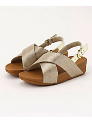 <フィットフロップ>LULU CROSS BACK-STRAP SANDALS - SHIMMER-PRINT(K54-563)