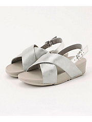 <フィットフロップ> LULU CROSS BACK-STRAP SANDALS - SHIMMER-PRINT(K54-578)