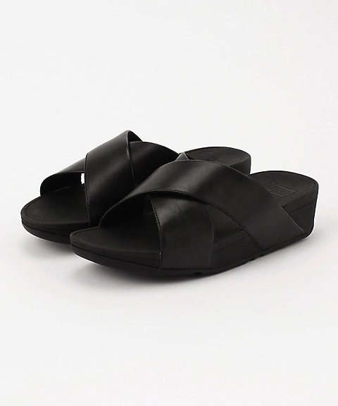 <フィットフロップ>LULU CROSS SLIDE SANDALS - LEATHER(K04-001)