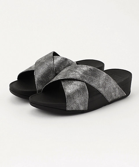 <フィットフロップ>LULU CROSS SLIDE SANDALS - SHIMMER-PRINT(K59-547)