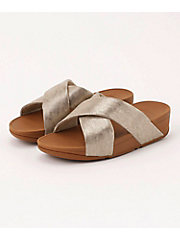 <フィットフロップ> LULU CROSS SLIDE SANDALS - SHIMMER-PRINT(K59-563)