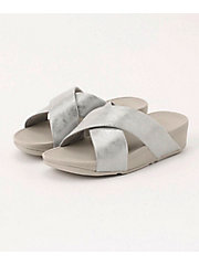 <フィットフロップ> LULU CROSS SLIDE SANDALS - SHIMMER-PRINT(K59-578)