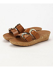 <フィットフロップ> DUO-BUCKLE SLIDE SANDALS - LEATHER(K34-098)