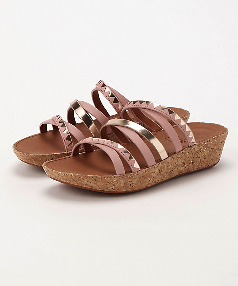 <フィットフロップ>LINNY SLIDE SANDALS - ZIGZAG MIRROR(K44-556)