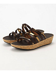 <フィットフロップ> LINNY SLIDE SANDALS - ZIGZAG MIRROR(K44-558)