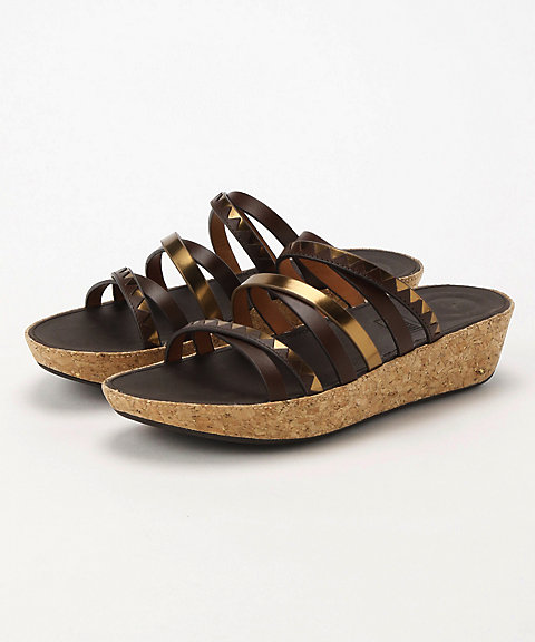 <フィットフロップ>LINNY SLIDE SANDALS - ZIGZAG MIRROR(K44-558)
