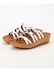 <フィットフロップ> LINNY SLIDE SANDALS - ZIGZAG MIRROR(K44-583)