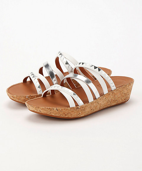 <フィットフロップ>LINNY SLIDE SANDALS - ZIGZAG MIRROR(K44-583)