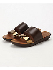 <フィットフロップ> DELTA SLIDE SANDALS-LEATHER/MIRROR(K29-558)