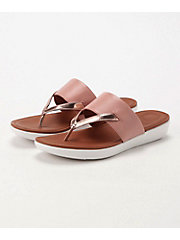 <フィットフロップ> DELTA TOE-THONG SANDALS-LEATHER/MIRROR(K32-556)