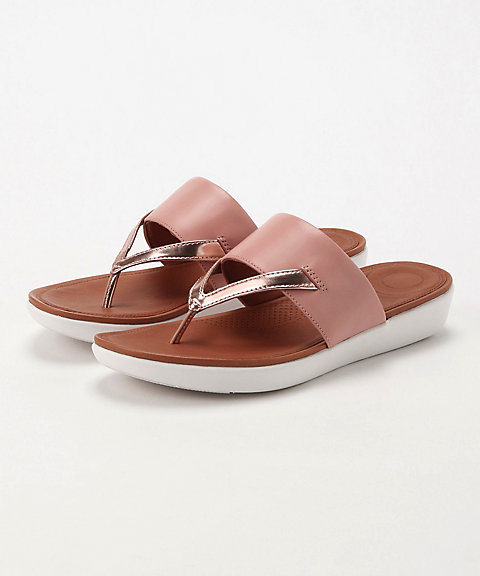 <フィットフロップ>DELTA TOE-THONG SANDALS-LEATHER/MIRROR(K32-556)