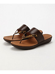 <フィットフロップ> DELTA TOE-THONG SANDALS-LEATHER/MIRROR(K32-558)