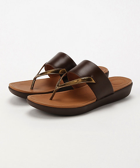<フィットフロップ>DELTA TOE-THONG SANDALS-LEATHER/MIRROR(K32-558)