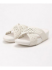 <フィットフロップ>LULU WICKER SLIDE サンダル