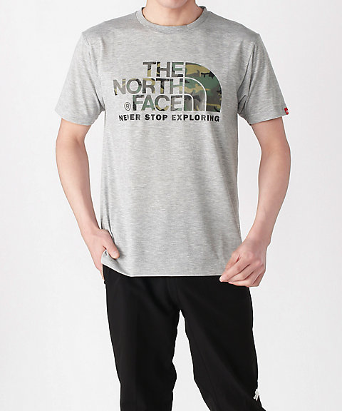<THE NORTH FACE>Tシャツ S/S CAMOUFLAGE LOGO TEE メンズ(NT31932)