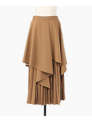 <CLANE>LAYERED PLEAT SKIRT