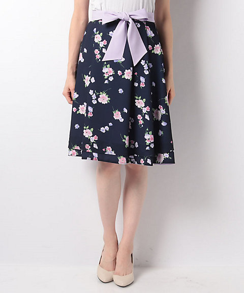 <LAISSE PASSE>Floralリバーシブルスカート