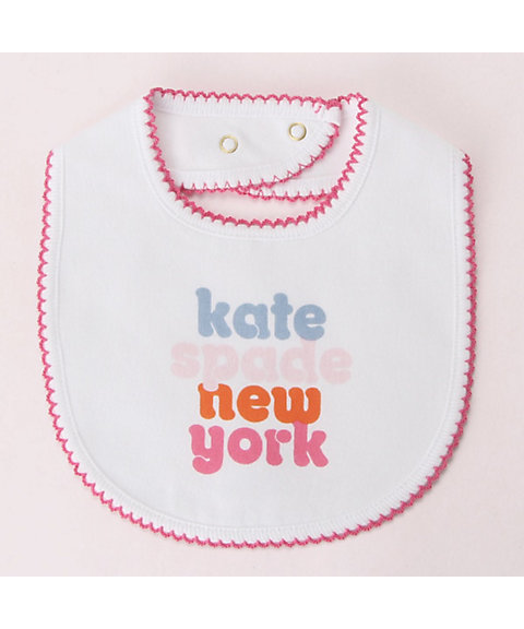 <kate spade new york childrenswear>レイエット ロゴ ビブ(8592550)