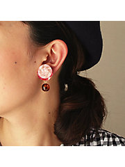 <patterie>BUTTON SPANGLE EARRING(PR17SS-AC-P001193-E)