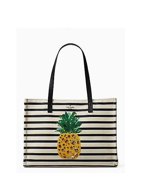 <kate spade new york>BY THE POOL CANVAS PINEAPPLE MEGA SAM(PXRU8939)