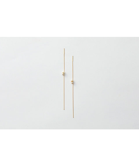 <januka(ヤヌカ)>TWIN PEARL AMERICAN EARRINGS S(TWP-03)