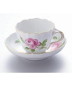 MEISSEN/マイセン マイセンのバラ ピンク ティー/コーヒー兼用カップ&ソーサー