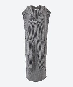 POSTELEGANT(Women)/ポステレガント Middle Knit Long Vest