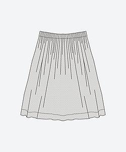 ウエストタックのスカート<C&Sオリジナル ドットミニヨン>