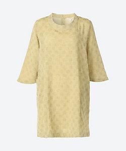INDIGO/インディゴ ★綿麻ドット柄織り7分袖チュニック(G20323LP)(クローバープラス)