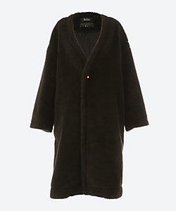 THE RERACS(Women)/ザ・リラクス COLLARLESS BOA COAT