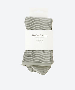 SIMONE WILD(Women)/シモーネワイルド WAVE VELVET ANKLE SOCKS
