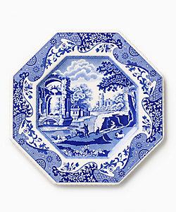 <スポード>/スポード ★開窯250周年記念 八角プレート ブル―イタリアン
