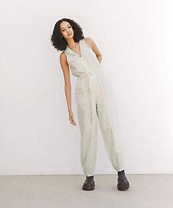 little Suzie(Women)/リトルスージー French Linen Tailor Sleeveless Jumpsuit