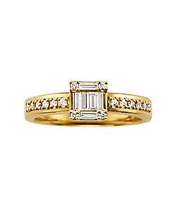BELLESIORA/ベルシオラ K18YGダイヤモンドリング