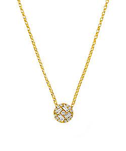 BELLESIORA/ベルシオラ K18YGダイヤモンドネックレス