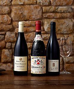 15.ローヌの代表銘柄赤ワイン飲みくらべ3本セット