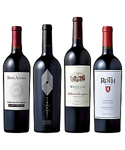 30.カリフォルニアのフルボディ カベルネ・ソーヴィニヨン飲みくらべ赤ワイン4本セット