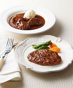 ウエムラ牧場/ウエムラボクジョウ 白老牛ハンバーグ&和牛シチューセット