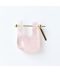 MONAKA jewellery(Women)/モナカ Rose Quartz Rock Pierced Earring ※シングル
