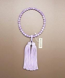 CEREMORE/セレモア 【仏事用】女性念珠 紫雲石片手共仕立 桐箱付