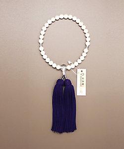 CEREMORE/セレモア 【仏事用】女性念珠 淡水真珠(白)片手水晶仕立 桐箱付