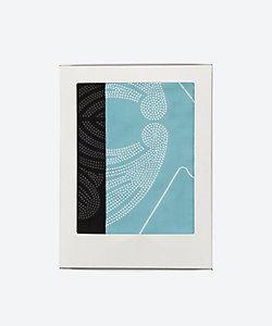 京源/キョウゲン 家紋手拭い 黒・新橋色