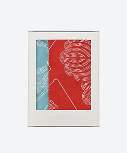 京源/キョウゲン 家紋手拭い 赤・新橋色