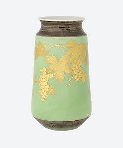 吉田美統/ヨシタミノリ 釉裏金彩葡萄文花瓶