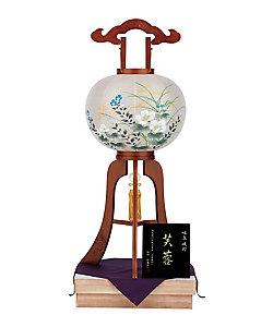 盆提灯・行灯/ボンチョウチン・アンドン 【三越カタログNo.12】大型行灯 木彫 二重張