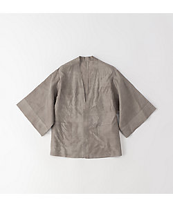 <NOBLE SAVAGE>羽織 ショート ムガゴールド パープルグレー