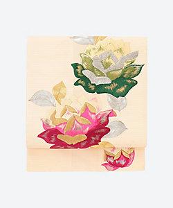 <暮らし家>絽名古屋帯 薔薇刺繍