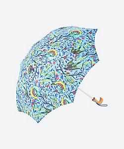 <集花>折りたたみ日傘 青